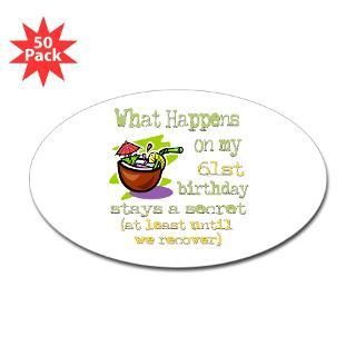 Happy 61St Birthday Stickers  Car Bumper Stickers, Decals