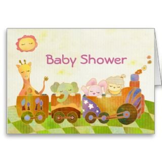 Baby Animals on Choo Choo Train Baby Shower by daphne1024