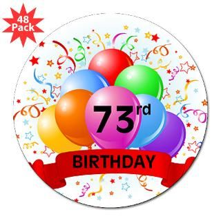 Happy 73Rd Birthday Stickers  Car Bumper Stickers, Decals