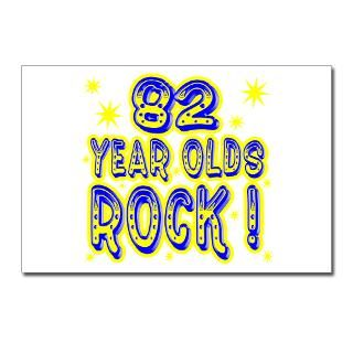 82 Year Olds Rock Postcards (Package of 8) for $9.50