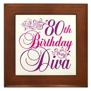 80Th Birthday Framed Art Tiles  Buy 80Th Birthday Framed Tile