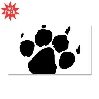 paw print sticker rectangle 50 pk $ 83 99