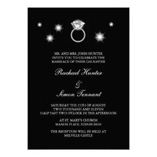 Ring Wedding Invitiation Personalized Invitation