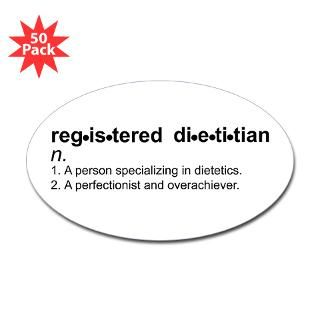 registered dietitian oval sticker 50 pk $ 86 99
