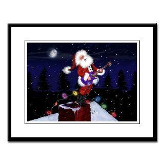 Santa Plays Guitar, Short Beard  Santa Plays Guitar