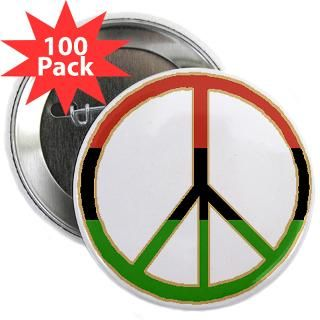 African Peace Symbol 2.25 Button (100 pack)