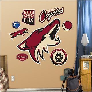 phoenix coyotes logo fathead wall graphic $ 89 99