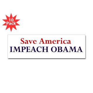 save america impeach obama sticker bumper 10 pk $ 28 98