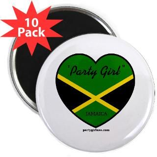party girl jamaica 2 25 magnet 10 pack $ 18 98