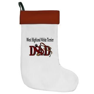 Christmas Stocking  West Highland White Terrier  Dogs By Dezign