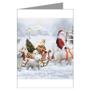 Great Pyrenees Christmas Greeting Cards  Buy Great Pyrenees Christmas