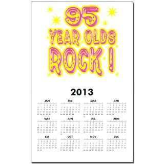 95 Year Olds Rock Calendar Print for $10.00
