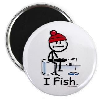 Ice Fish  BusyBodies Stick Figure T shirts and unique Gifts