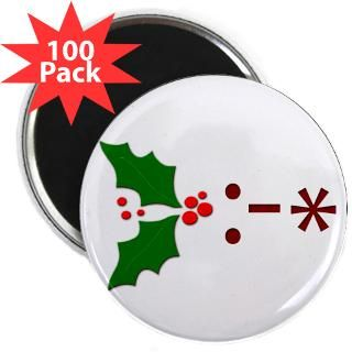 kiss emoticon mistletoe 2 25 magnet 100 pack $ 107 99