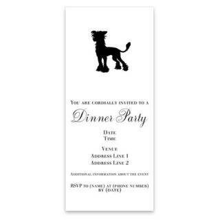Chinese Crested Silhouette Invitations by Admin_CP8774  512202596
