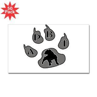 apbt paw print rectangle sticker 50 pk $ 113 99