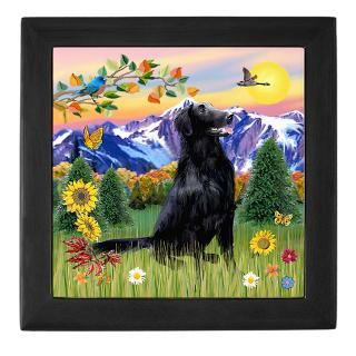 Flat Coated Retriever Keepsake Boxes  Flat Coated Retriever Memory