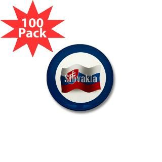 Slovakia Waving Flag Mini Button (100 pack) for $125.00