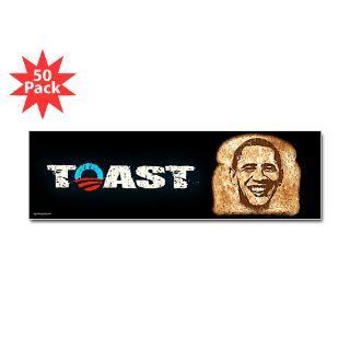 obama is toast sticker bumper 50 pk $ 126 99