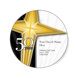 50 Year Church Anniversary Sticker