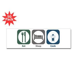 Eat Sleep Cook Bumper Sticker (50 pk)