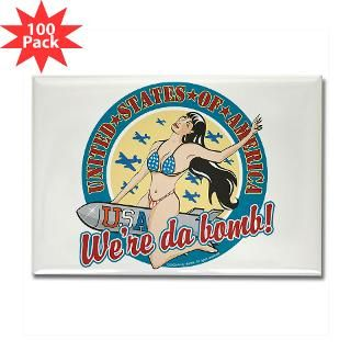 patriotic pinup girl rectangle magnet 100 pack $ 141 99