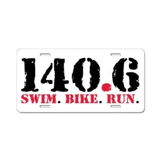140.6 Swim Bike Run Aluminum License Plate for $19.50