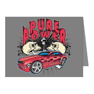 Chevy Camaro Hotrod  Pure Power Chevy Camaro Skulls T shirts and
