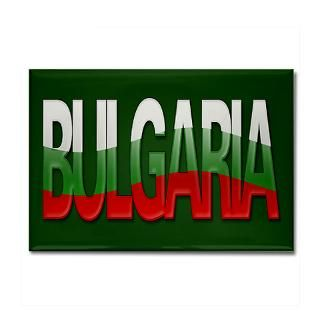 Bulgaria Bubble Letters Rectangle Magnet