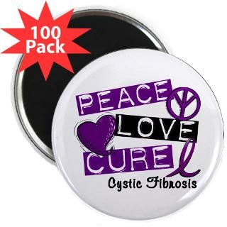 PEACE LOVE CURE Cystic Fibrosis Shirts & Gifts  Awareness Gift