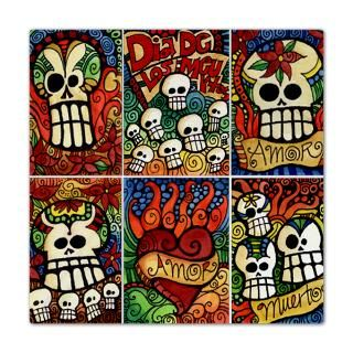 day of the dead sugar skulls queen duvet $ 165 00
