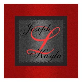 Black & Red Gorgeous Holiday Classic Wedding Inva Personalized