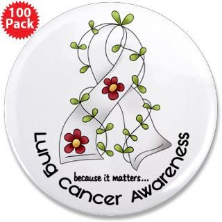 flower ribbon lung cancer 3 5 button 100 pack $ 167 99