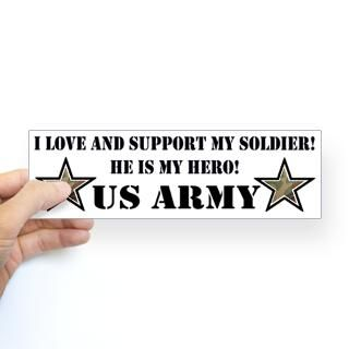 Bumper Stickers  Support and Love our Military Troops   Gift Shop
