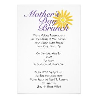 Mothers Day Brunch Announcements