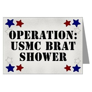 Air Force Greeting Cards  USMC BRAT SHOWER INVITATIONS (Pk of 10
