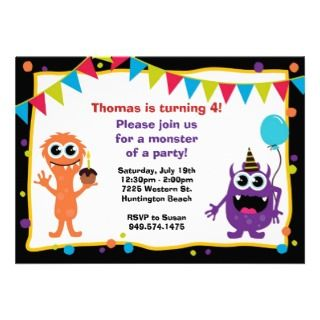 Monster Birthday Party Invitation