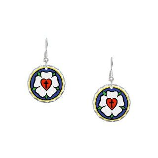 Christian Gifts  Christian Jewelry  Luthers Rose Earring Circle