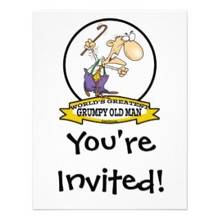 WORLDS GREATEST GRUMPY OLD MAN CARTOON INVITE