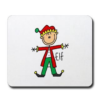 Christmas Elf Mousepad  Christmas Elf T shirts and Gifts  Stick