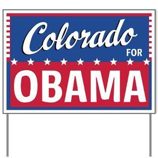 Colorado for Obama Yard Sign  Obama Yard Signs  Barack Obama