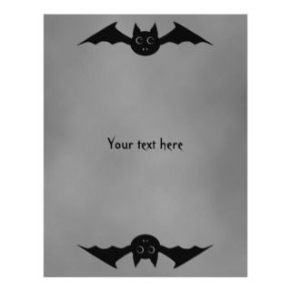 Cute gothic Halloween vampire bat with big eyes Flyers