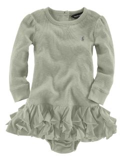 Lauren Childrenswear Infant Girls Ruffle Dress   Sizes 9 24 Months