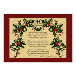 Christmas Prayer Custom Invitation
