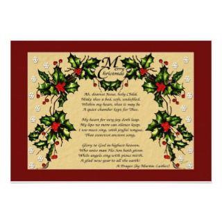Christmas Prayer Custom Invitation