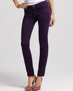 AG Adriano Goldschmied Luscious Sateen Stilt Jeans in Deep Purple