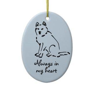 Customizable Christmas Dog Memorial Ornament