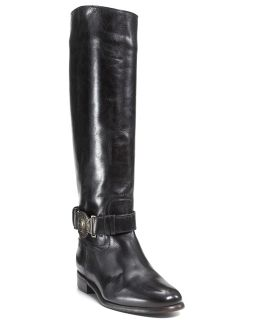 Burberry Riding Boots with Logo Medallion