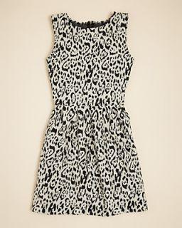 Aqua Girls Jacquard Animal Print Dress   Sizes S XL