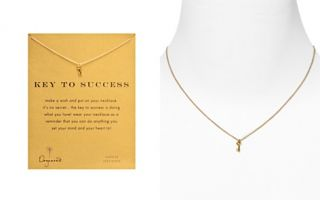 Dogeared Gold Key to Success Necklace, 18_2